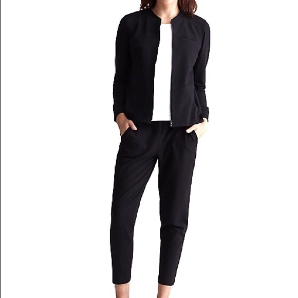 Eileen Fisher Jackets & Blazers - Eileen Fisher Stretch Crepe Black Jacket